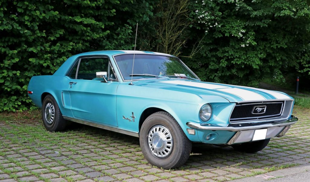Newly Painted Mustang
