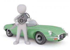 car buyer with car key